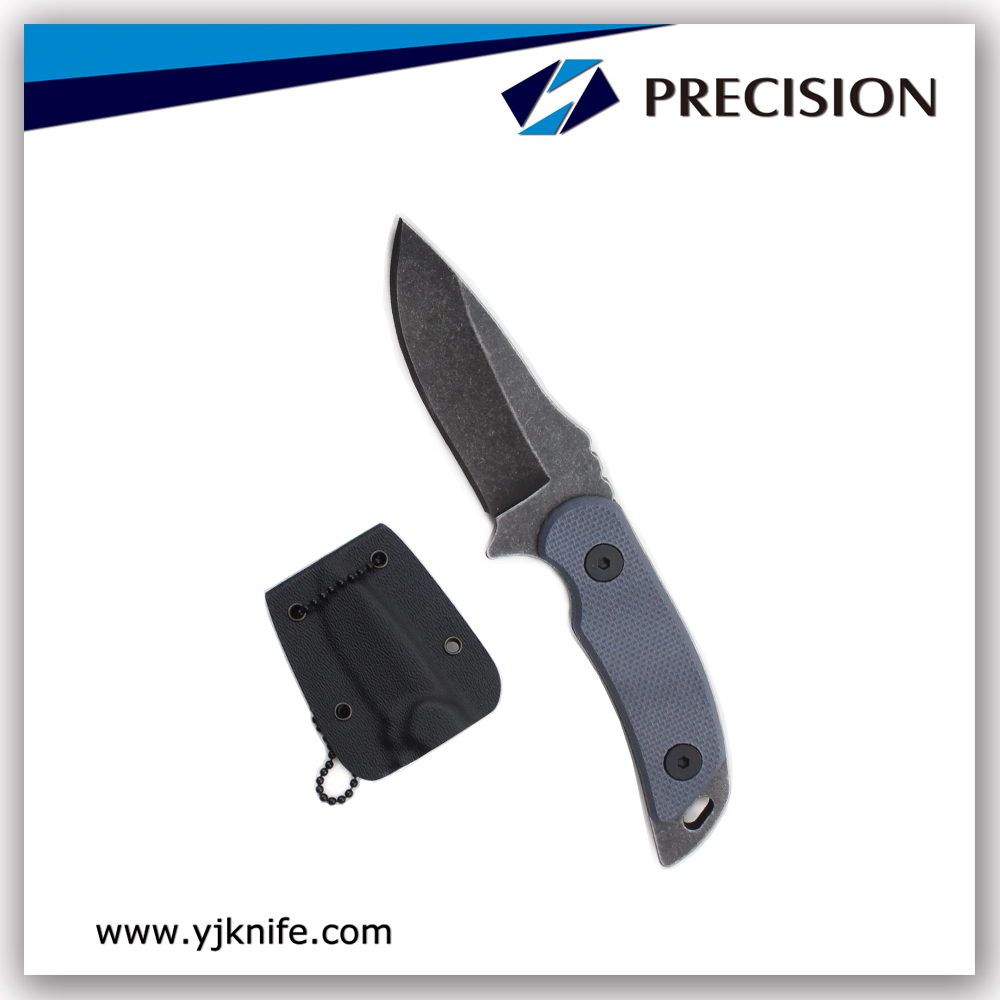 Wash Stone Tanto Blade Survival Knife with Nylon Sheath