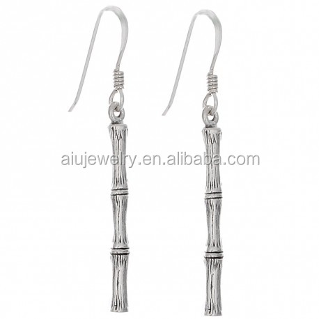 sterling silver wholesale Earrings Bamboo