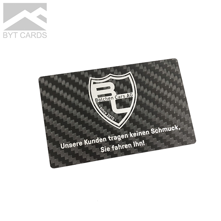 Pvc Cortado A laser de Plástico De Fibra De Carbono Exclusivo Preto Reciclado Personalizado Cortado De Alta Qualidade de Impressão de Luxo Personalizado Cartão De Negócios