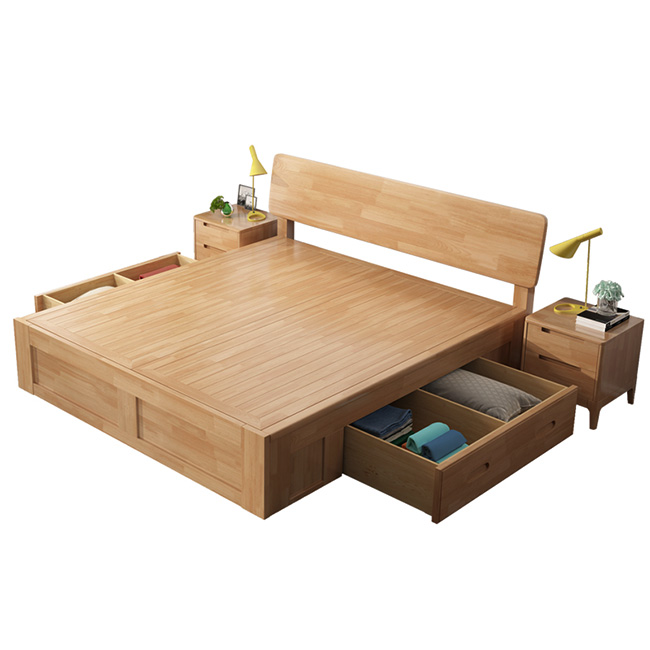 Japanese Style Simple Box Bed Solid Wood Storage Hydraulic Platform Double Product On Alibaba Com