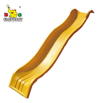 Playground Accessories 10 Feet Plastic Wave Slide For Swing Set