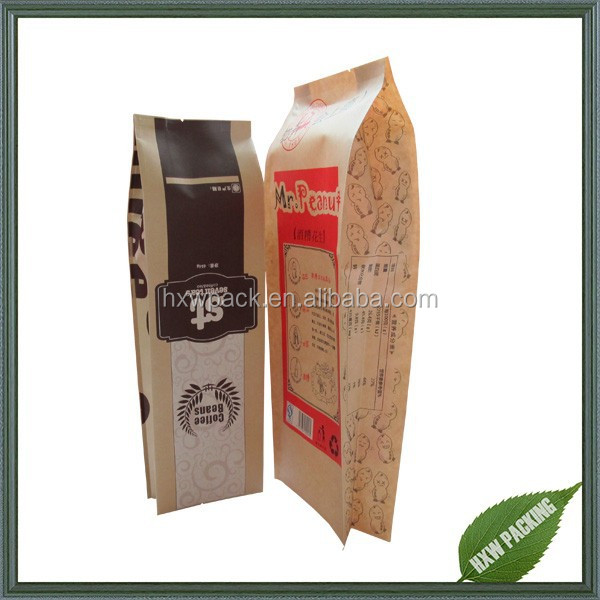 side gusset kraft paper aluminum foil lined leisure snacks food noodle salad dressing packing pouch bag