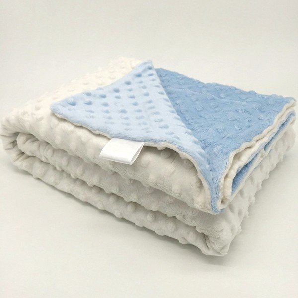 Summer use customized gift minky material two layers security baby blanket