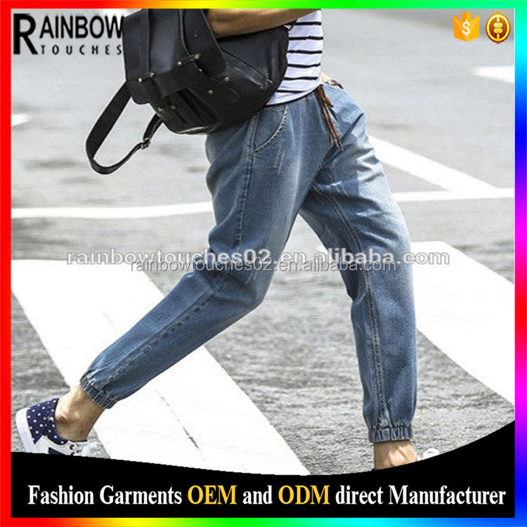 2017 high quality fashion custom made gents jeans pant