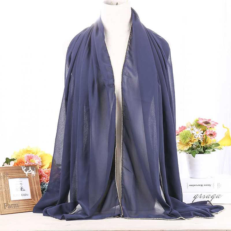 Cosum wholesale new designs muslim hijab chiffon inner scarf for women