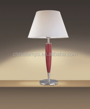 Chinese Style Hotel Wood Table Lamps For Bedroom Bedside With ...