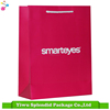 Handmade Solid Printing Whitecard Pink Paper Bag with White Logo