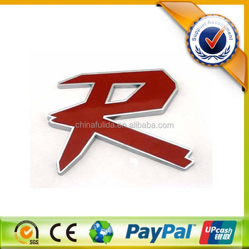 Letter R Made Of Abs Plastic Chrome Make Your Own Car Emblem