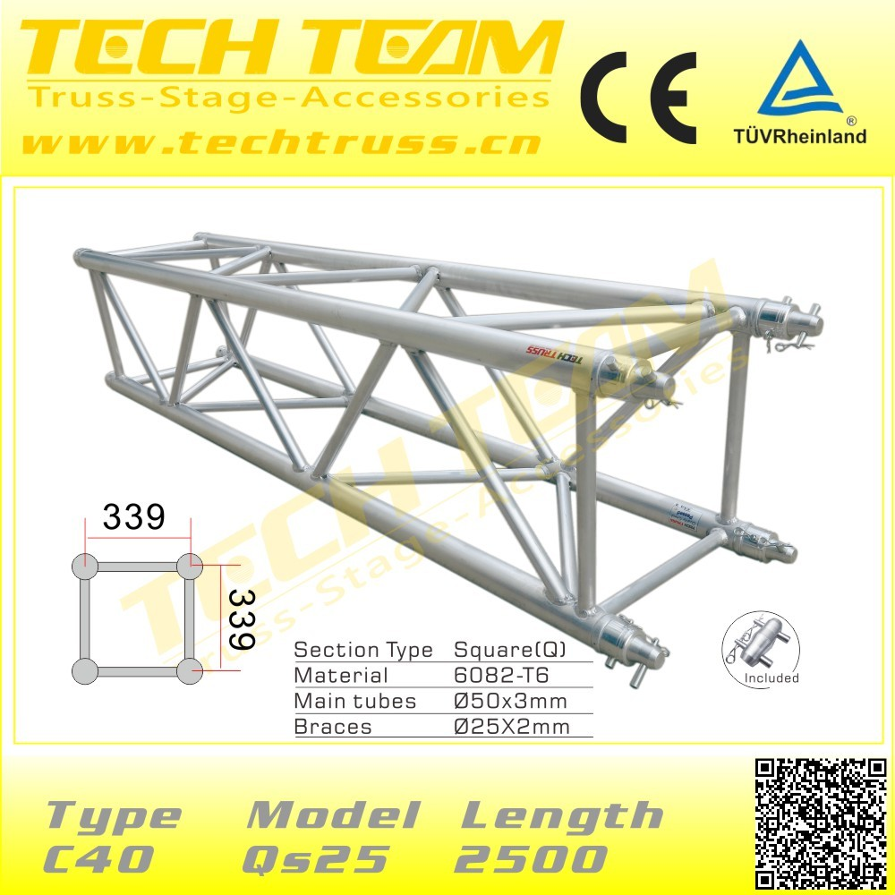 D76-RS40Hot sales concert stage roof truss , used aluminum truss