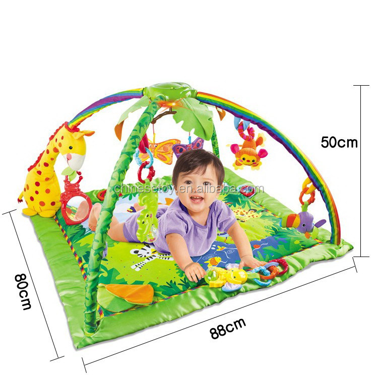 Music Game Mat Educational Fitness Frame Gym Baby Multi-bracket Baby Play Mat