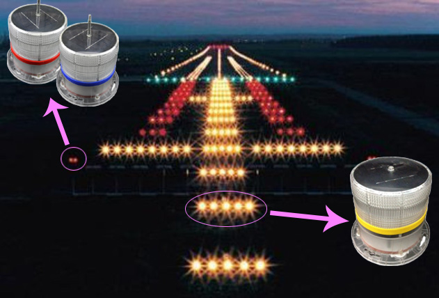 Solar Airport Light Runway Taxiway Edge Lighting With