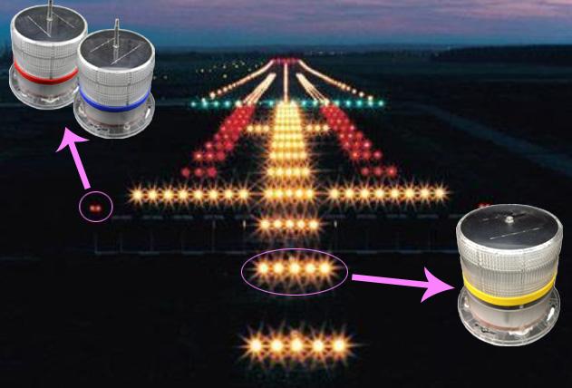 solar airport lightrunwaytaxiway edge lighting with