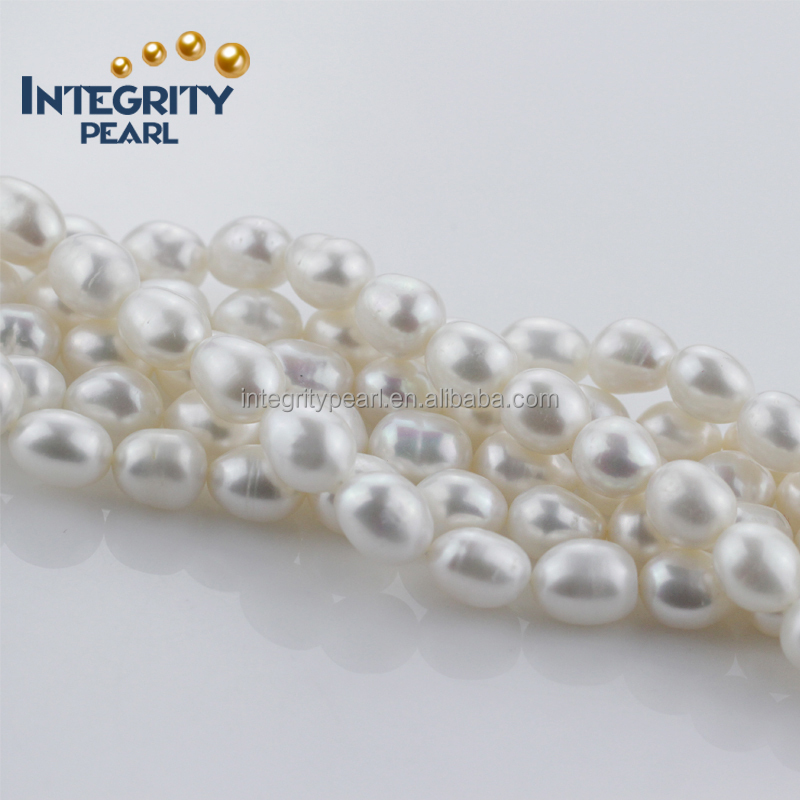 natural orange color 12mm AA- rice real freshwater pearl string wholesale