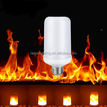 gravity flame led light,led flame effect bulb 9W, three change modes flame led lamp e27