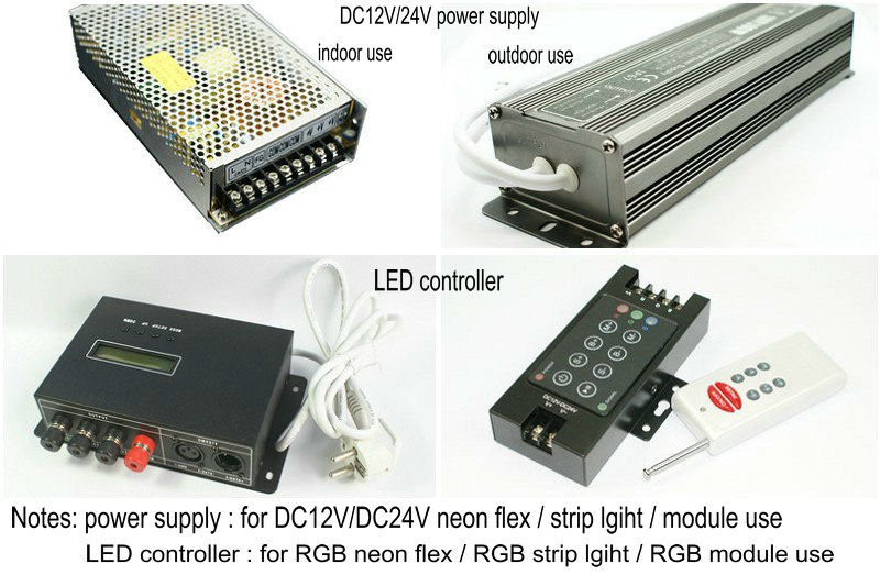 good price SMD 5050 IC 24V led flexible meoter Neon rope light manufacturer in shanghai