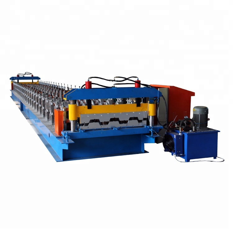 Metalen vloer decking staal roll forming machine/Floor stalen dek panel productie roll forming machine/vloer dek roll voormalige