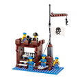 New Arrival DIY PIRATES Pirate ship Supply Depots Enlighten Brick Building Blocks Toys scale models playmobil
