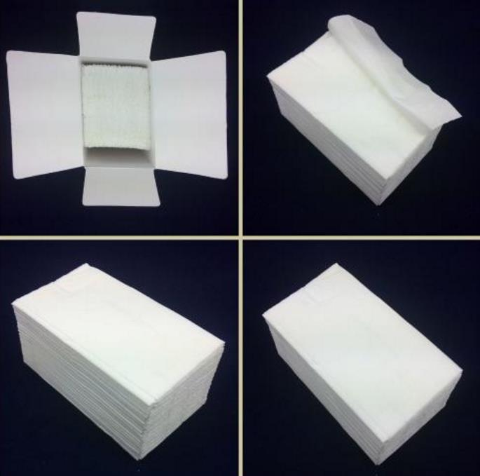 Fancy and nice white color serviettes tissue napkin paper used in the restaurants