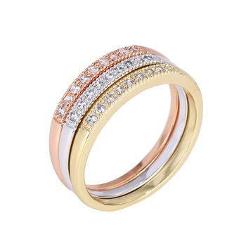 R16 Indian Jewelry Design Gold Ring For Women Vogue Jewelry Wedding