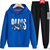Hot sale new fashion letter printed sport hoodie for men leisure two sets of junior high school students sportswear spring an