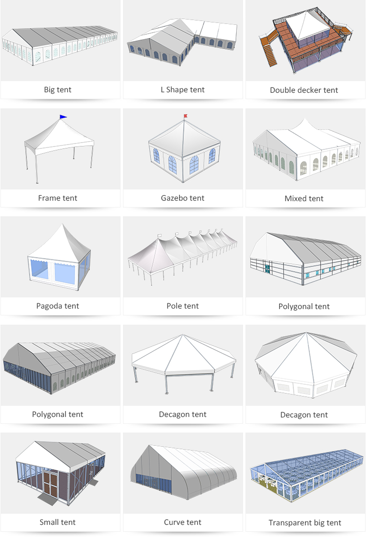 polygon dome tent diamrter in different shape for disaster Relief-14