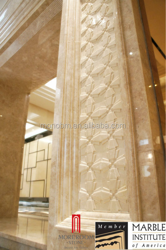Marble Wall Panels : Italian design cnc stone engraving interior d marble wall