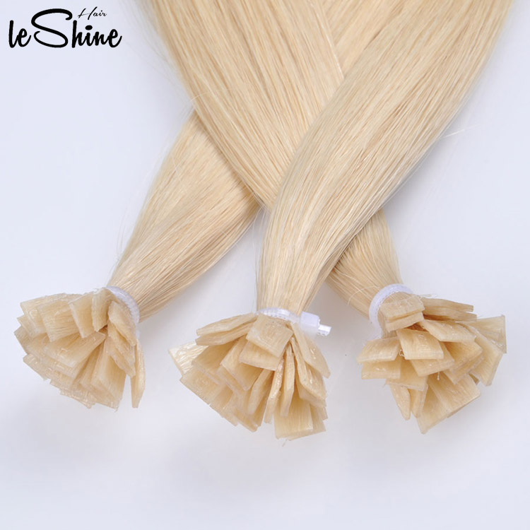 Double Drawn Flat Tip Human Cuticle Hair Extension