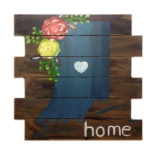 Hot sale Home decoration modern simple wall hanging paintings wood art craft