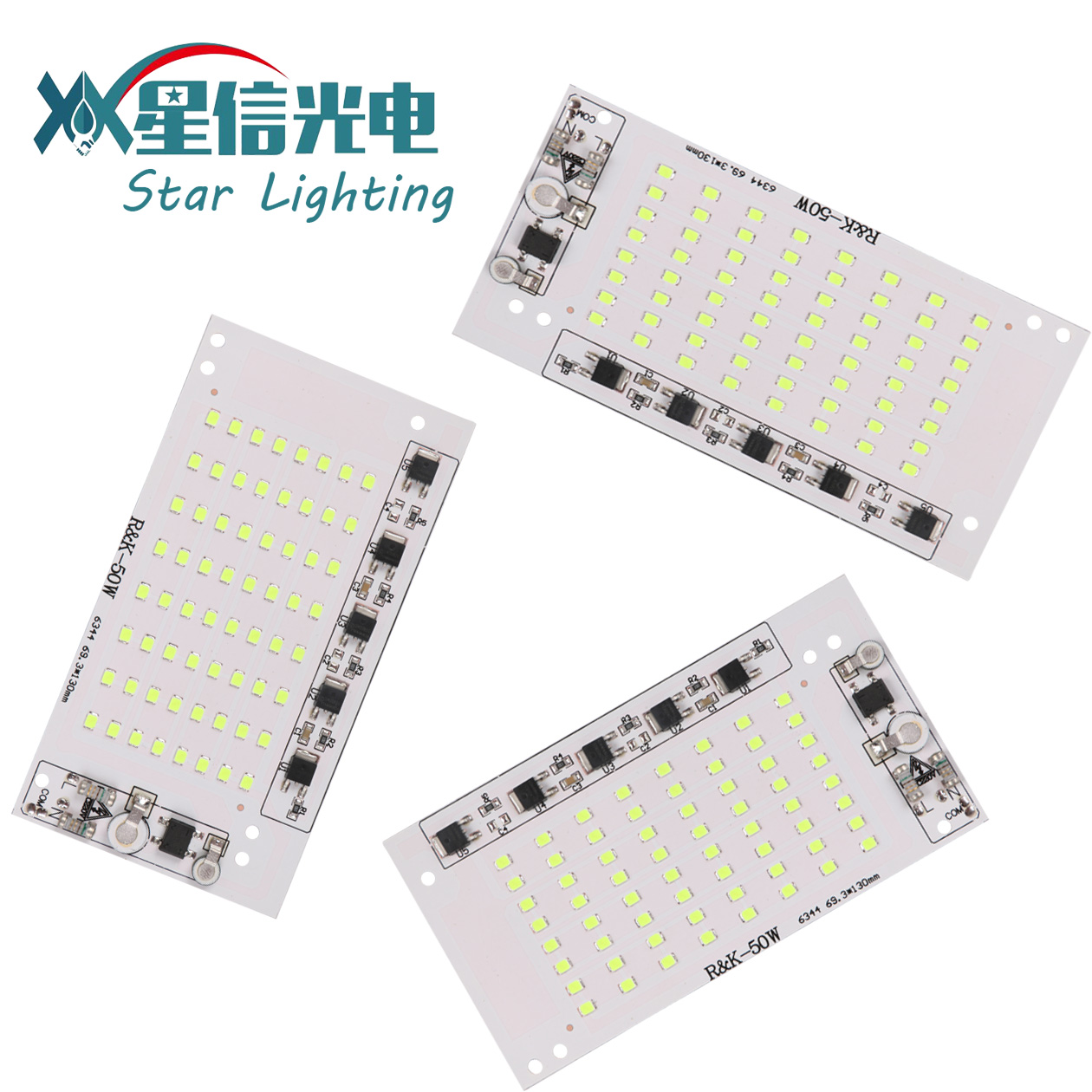 XGD  4KV Surge EMI EMC 2Years Warranty AC DOB Driverless SMD2835 6V 1W LED chip FOR 50W Flood Light
