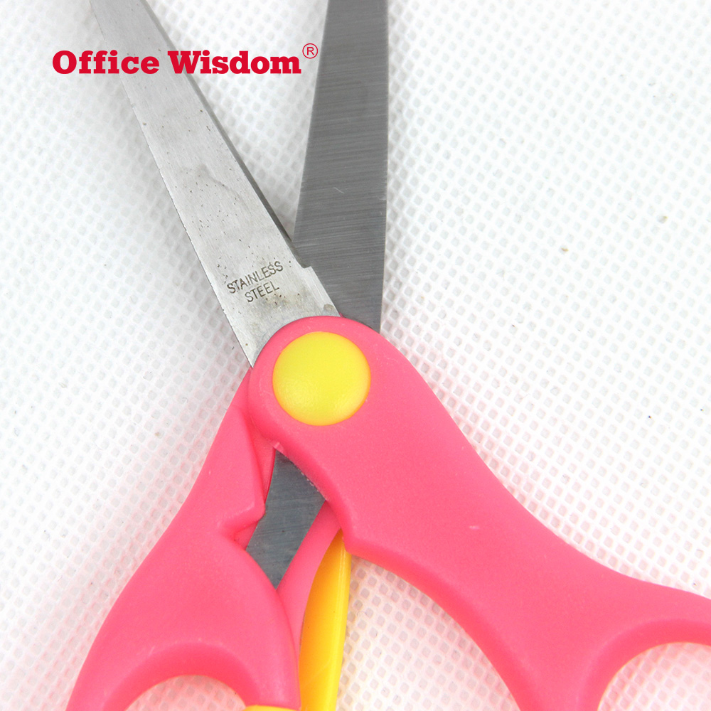 Stainless Kids Colorful Plastic Safety Training Student Scissors Paper Cutter Children Scissor