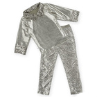 Wholesale childrens boutique clothing fall 2015, baby girls metallic pants set sequin outfits M5091006