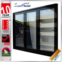 with high quality hardware used exterior doors for sale Modern architectural design aluminium swing slide door