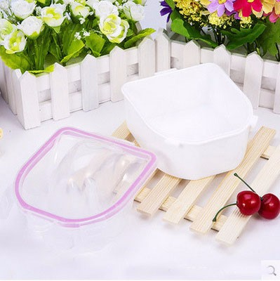 I-Believe White double layer manicure remove bowl; the cheapest soaking off gel polish bowl