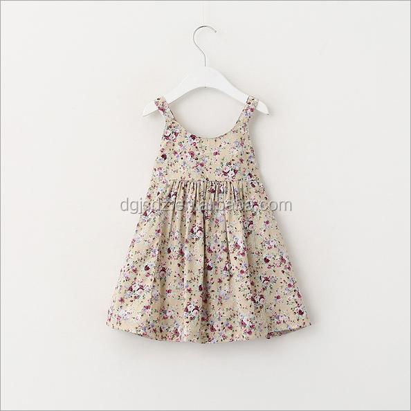 f9d136b57 2016 Little Flower Printed Girl Dress Kids Fashion Cute Frock Baby ...