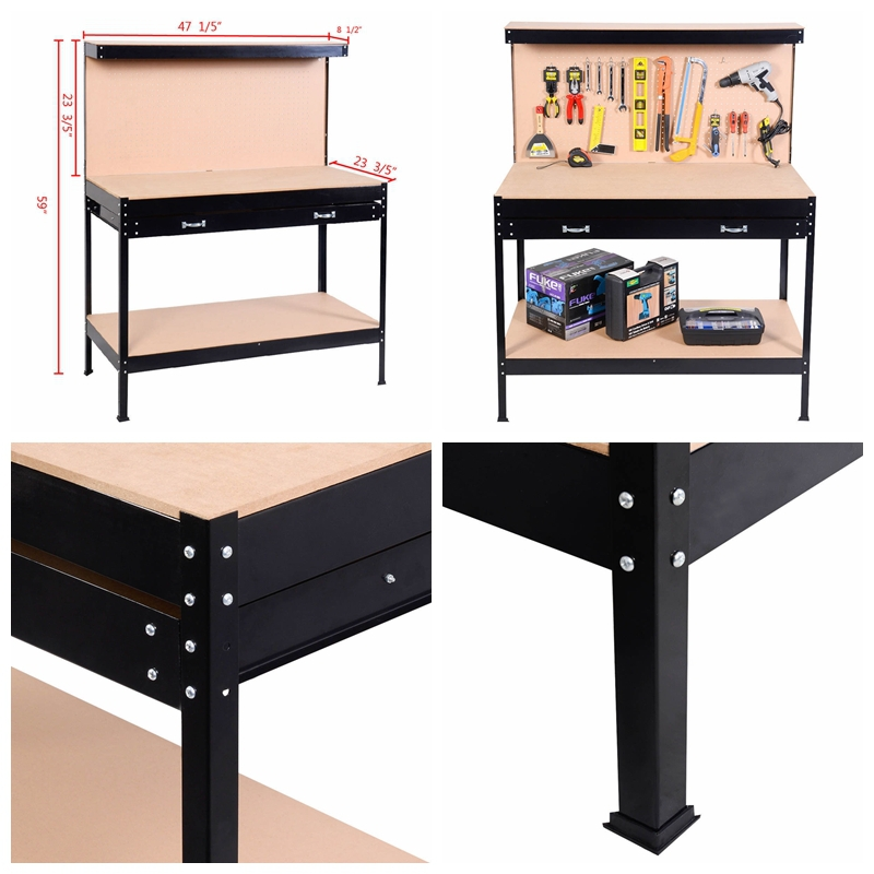 New Blue Steel Tools Box Workbench Garage Metal Workshop Table With Pegboard Drawers Buy Tools