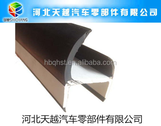 co-extruded plastic hard and soft composite container door rubber seal strip