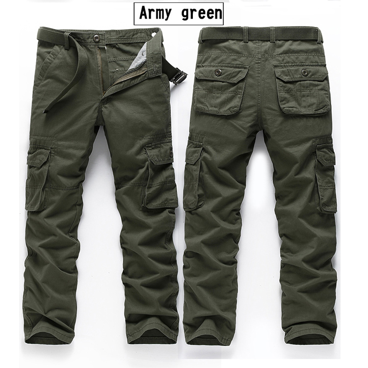 jeans Men Multi-Pockets Trousers Cotton Loose Cargo Tooling Tactical Styles Men Casual Trousers pants