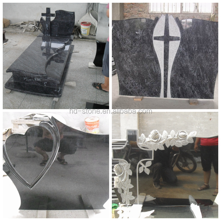 Chinese Natural Granite Stone Poland Style Tombstone, Headstone with Different shapes Price