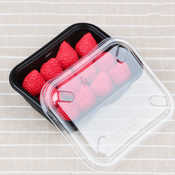 Rectangular Clear PET Custom Plastic Strawberry Packaging Container