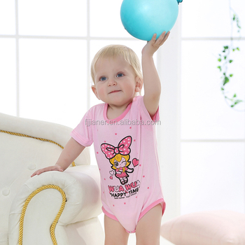 Custom made baby girls open crotch romper bodysuit