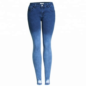 Womens Distressed Ripped Skinny Jeans Denim Pants