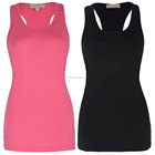 Hot Girls Women Casual Tank Tops Elastic Cotton Breathable Fashion Soft Vest Tank Top Sexy Tee Flex Racerback Camisole Tops