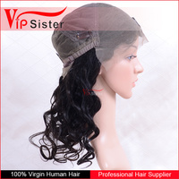 Factory Price stock 100% unprocessed brazilian hair full lace wig loose wave silk lace frontal wigs