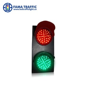 Rotatable Brackets 100mm Red Green LED Safety Traffic Light