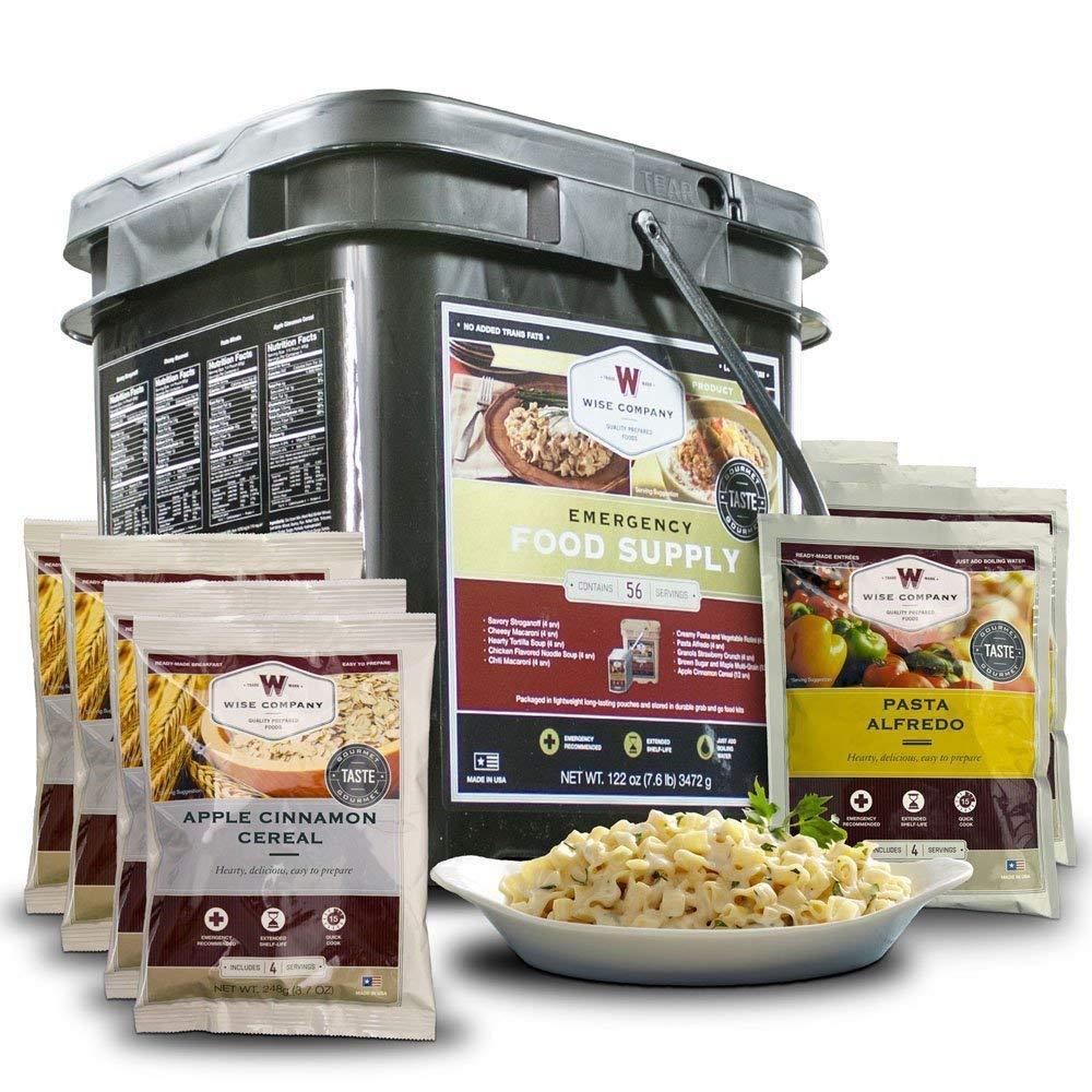 Wise Foods Grab N Go Bucket 56 Serving Breakfast Entree Dehydrated/Freeze Dried