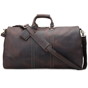 Tiding Large Capacity Luggage Bag Genuine Cow Leather Duffel Bag For Travelling