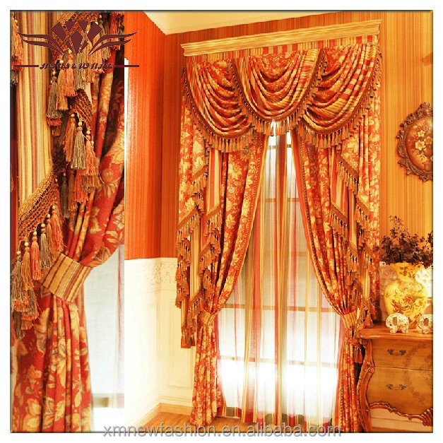 European Curtains, ,luxury And Classic Curtains,valance Swag Curtains