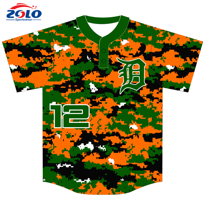 China sportswear factory custom made cheap mesh blank baseball jersey