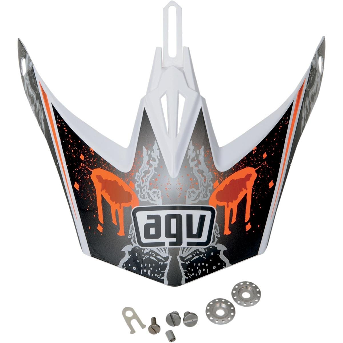 210362b1 Get Quotations · AGV Helmet Visor for MT-X - Evolution White/Orange  KU0902015