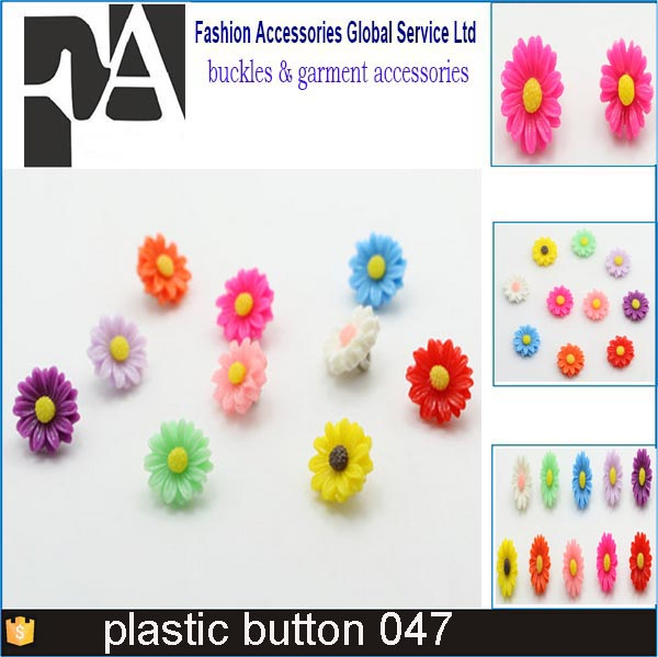 Beautiful colorful types Plastic button